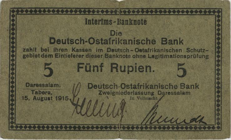 R.910a: 5 Rupie 1915 B (3-)