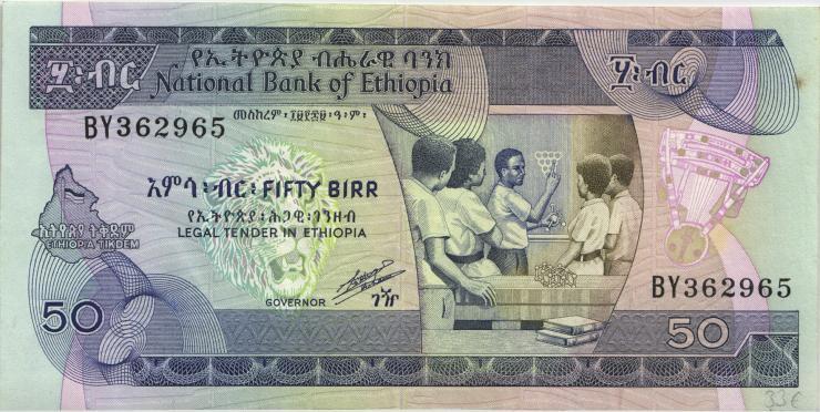 Äthiopien / Ethiopia P.44b 50 Birr (1991) (2)