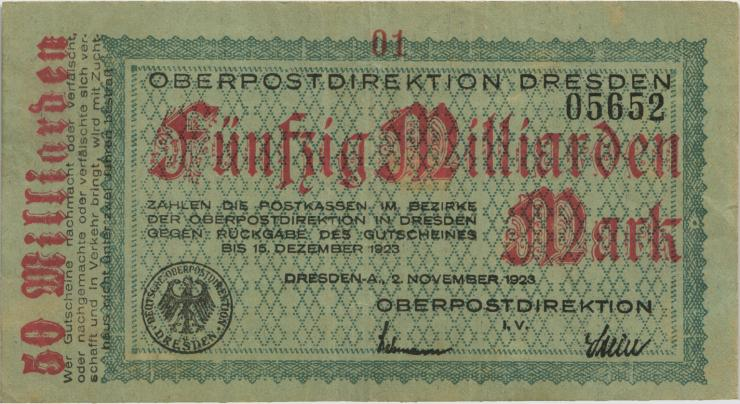 MG503.2 OPD Dresden 50 Milliarden Mark 1923 (3)