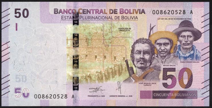 Bolivien / Bolivia P.neu 50 Boliviano (2018) (1)
