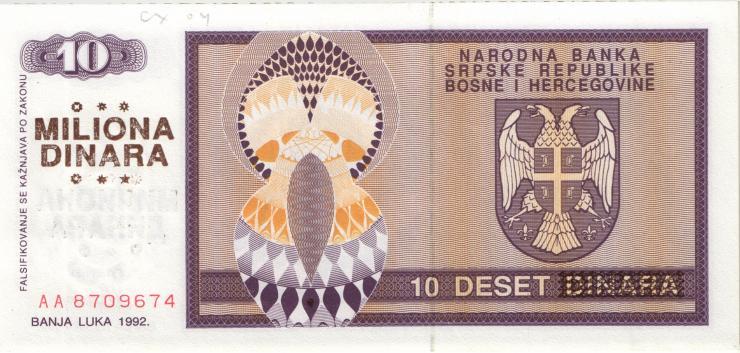 Bosnien & Herzegowina / Bosnia P.149 10 Mio Dinara 1993 (1)