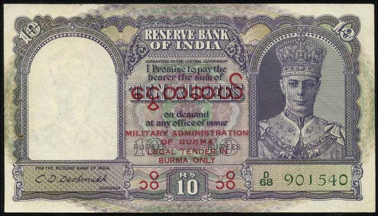 Burma P.28 10 Rupien (1945) (1)