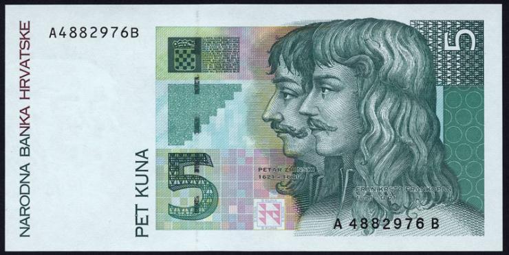 Kroatien / Croatia P.28 5 Kuna 1993 (1)