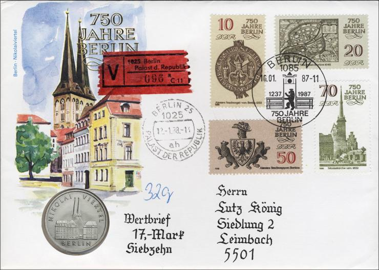 D-043.W • Nikolaiviertel >Wertbrief<