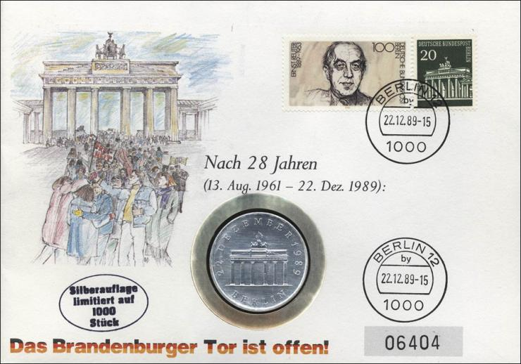 D-080.b • Öffnung Brandenburger Tor -Silberausgabe