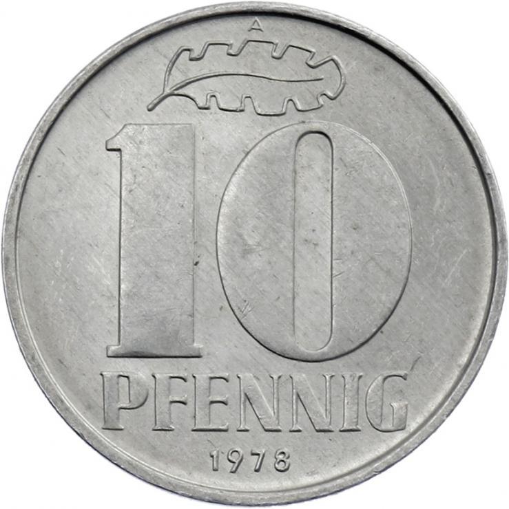 DDR 10 Pfennig (Alu) prfr.