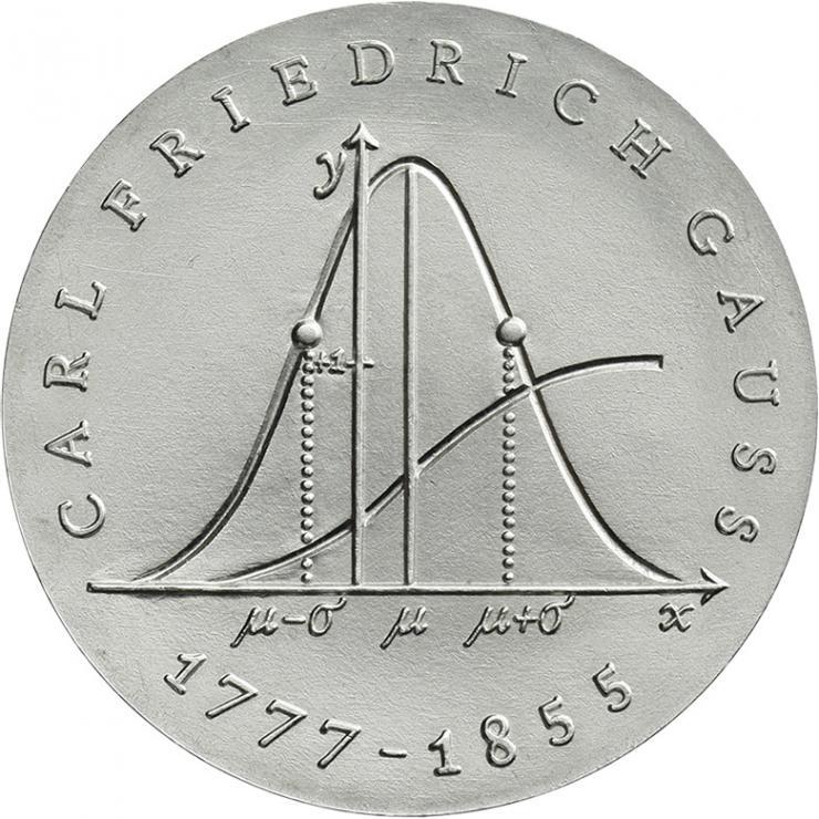 DDR 20 Mark 1977 Gauss