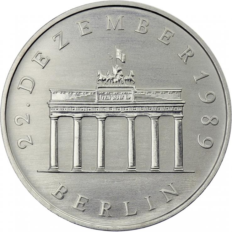 DDR 20 Mark 1990 Brandenburger Tor CuNi