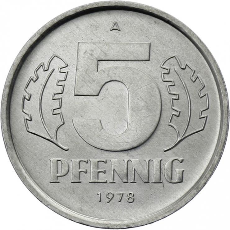DDR 5 Pfennig (Alu) prfr.