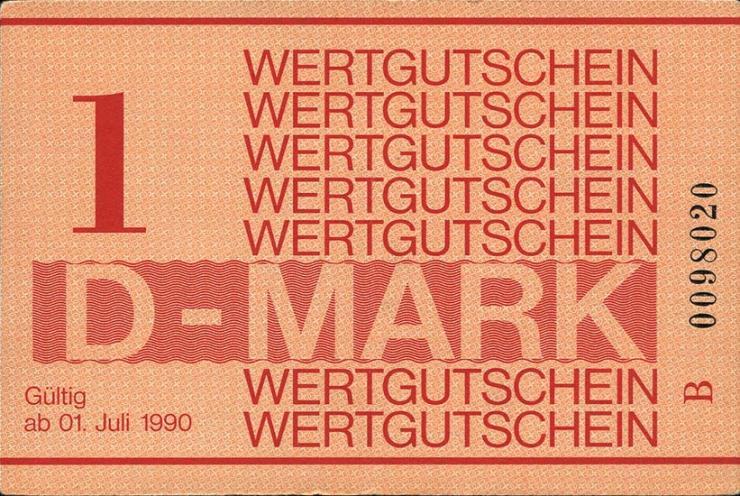 MDI-38 DDR Gefängnisgeld 1 DM (1990)  (1)