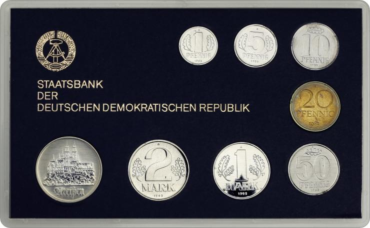 DDR Kursmünzensatz 1983 stgl (schwarz)