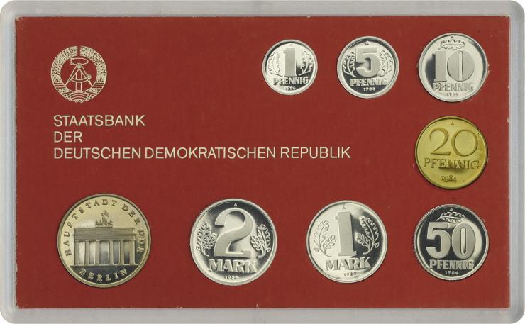 DDR Kursmünzensatz 1984 PP