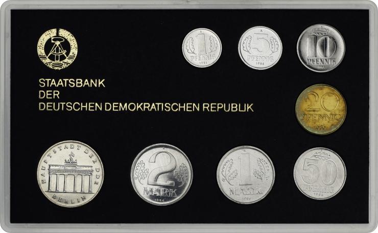 DDR Kursmünzensatz 1986 stgl