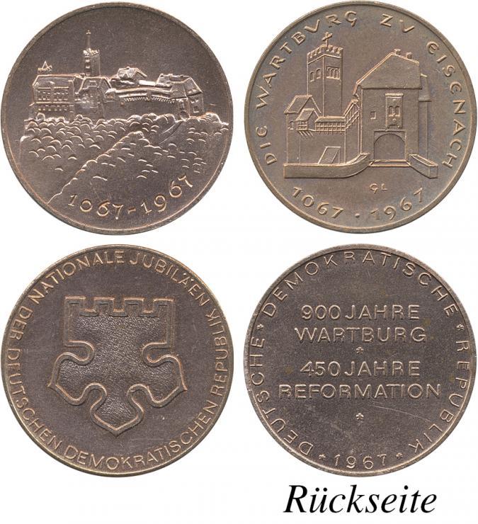 """DDR-Medaillenserie """"900 Jahre Wartburg"""" 1967"""