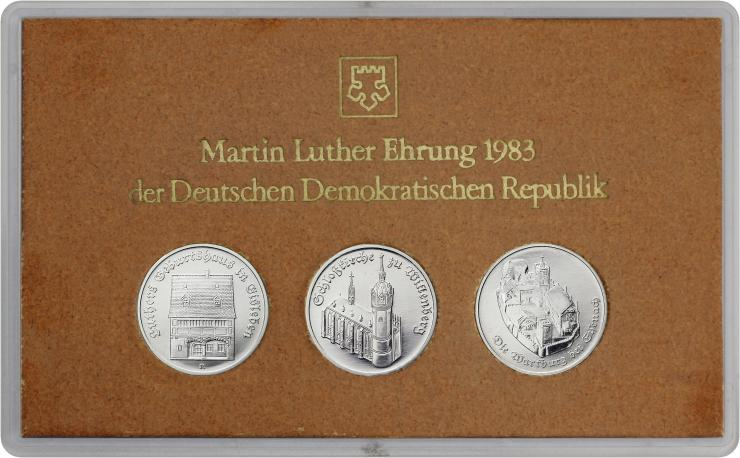 DDR-Münzsatz Martin Luther Ehrung 1983