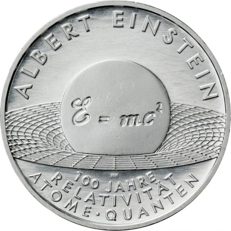 Deutschland 10 Euro 2005 Albert Einstein stg