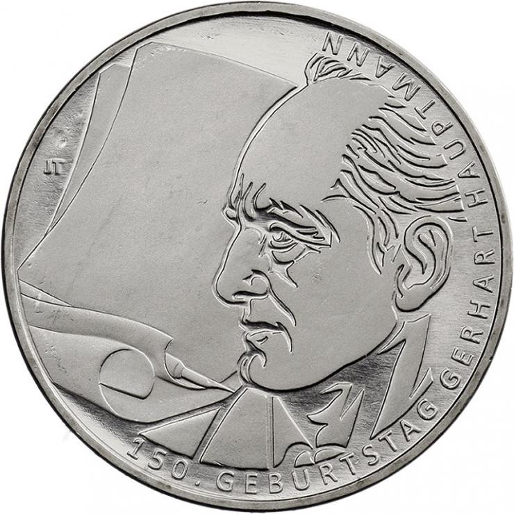 Deutschland 10 Euro 2012 Gerhart Hauptmann prfr