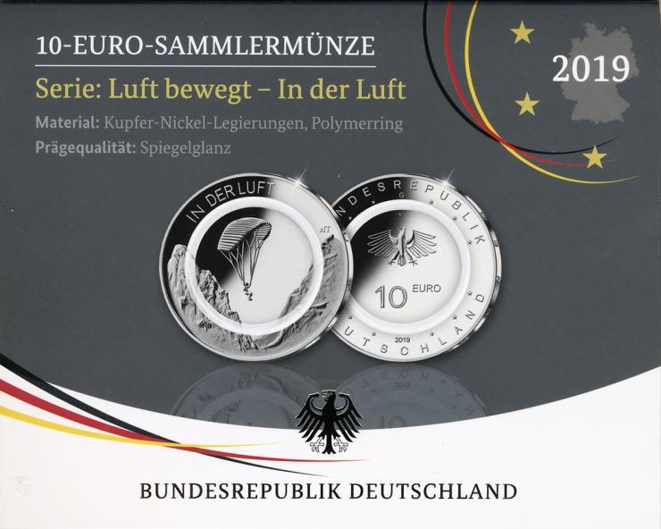 Deutschland 10 Euro 2019 In der Luft PP