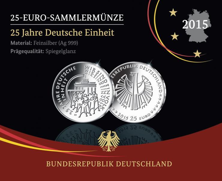 Deutschland 25 Euro 2015 25 Jahre Deutsche Einheit PP