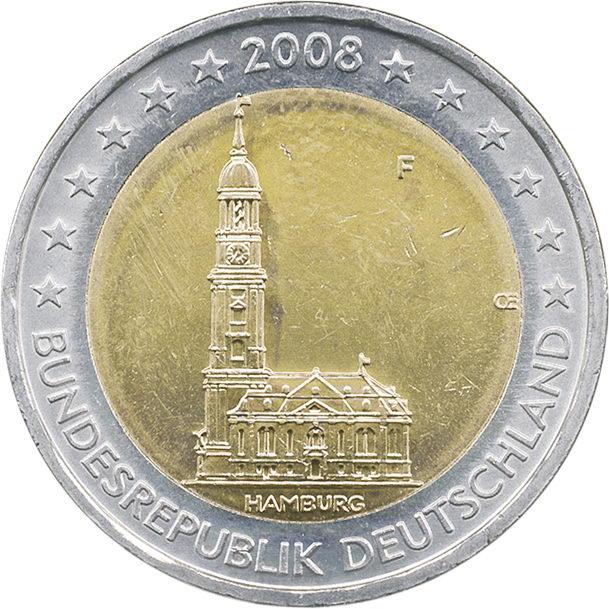 Deutschland 2 Euro 2008 Hamburg