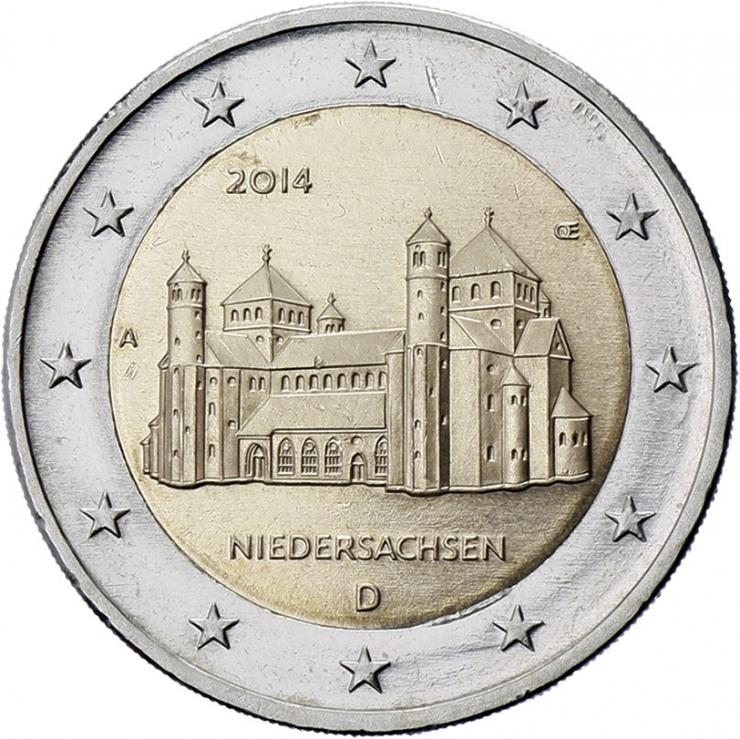 Deutschland 2 Euro 2014 Niedersachsen/ St. Michaelis