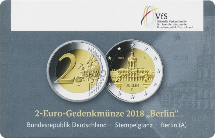 Deutschland 2 Euro 2018 Berlin A Coincard