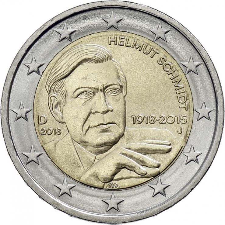 Deutschland 2 Euro 2018 Helmut Schmidt prfr