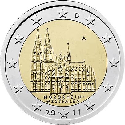 Deutschland 2 Euro 2011 Nordrhein-Westfalen/  Kölner Dom