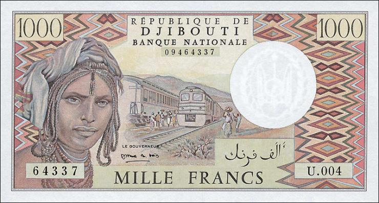 Djibouti P.37e 1000 Francs (1991) (1)