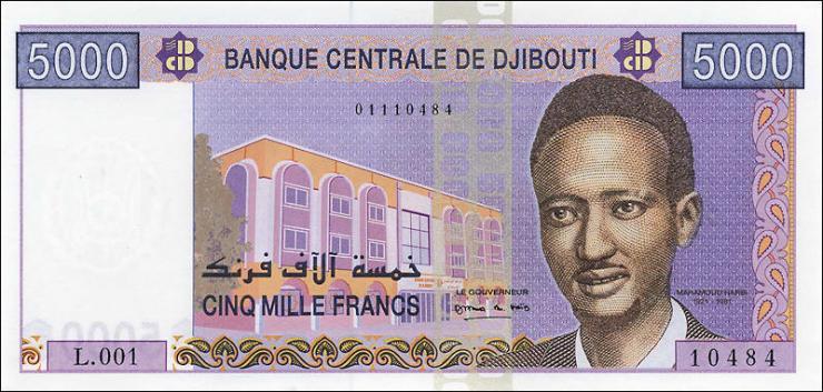 Djibouti P.44 5000 Francs (2002) (1)