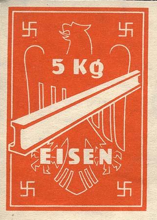 Ersatzzahlungsmittel 3. Reich Eisen 5 kg (2)