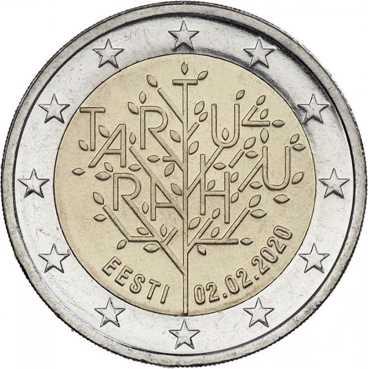 Estland 2 Euro 2020 100 Jahre Frieden von Tartu