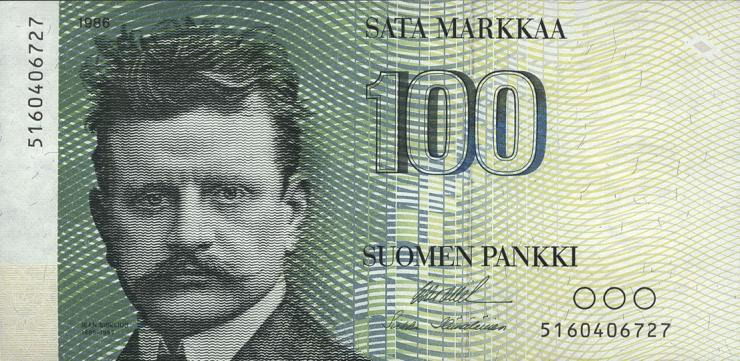 Finnland / Finland P.115a 100 Markkaa 1986 (1)