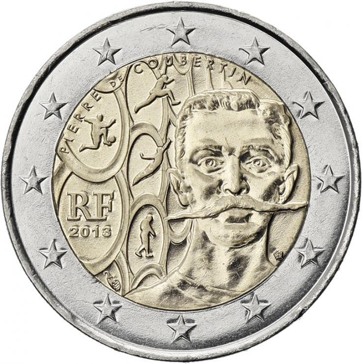 Frankreich 2 Euro 2013 Pierre de Coubertin