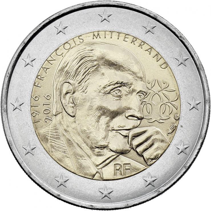 Frankreich 2 Euro 2016 Mitterrand