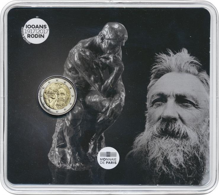 Frankreich 2 Euro 2017 Auguste Rodin im Blister