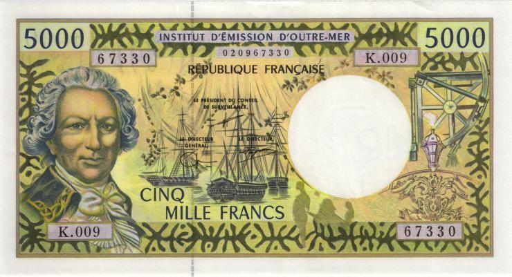 Frz. Pazifik Terr. / Fr. Pacific Terr.  P.03 5000 Francs (1996) (2)