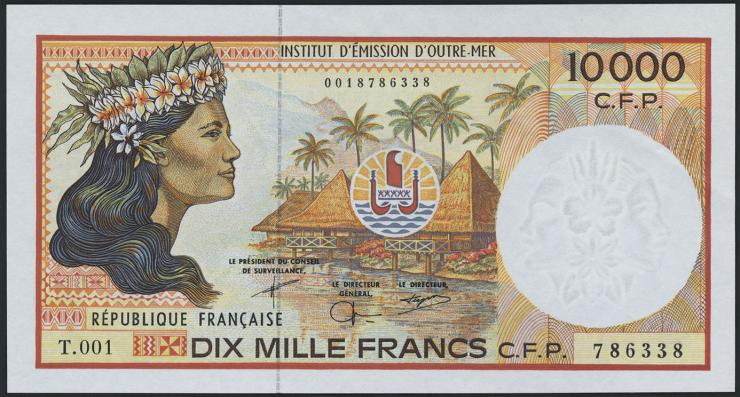 Frz. Pazifik Terr. / Fr. Pacific Terr.  P.04g 10000 Francs (1985) (1)