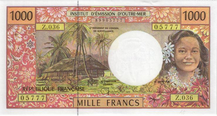 Frz. Pazifik Terr. / Fr. Pacific Terr. P.02i 1000 Francs (2006-) (1/1-)