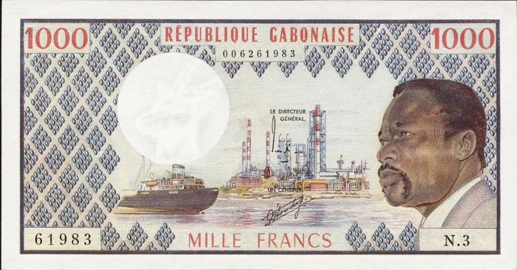 Gabun / Gabon P.03c 1000 Francs (1978) (1)