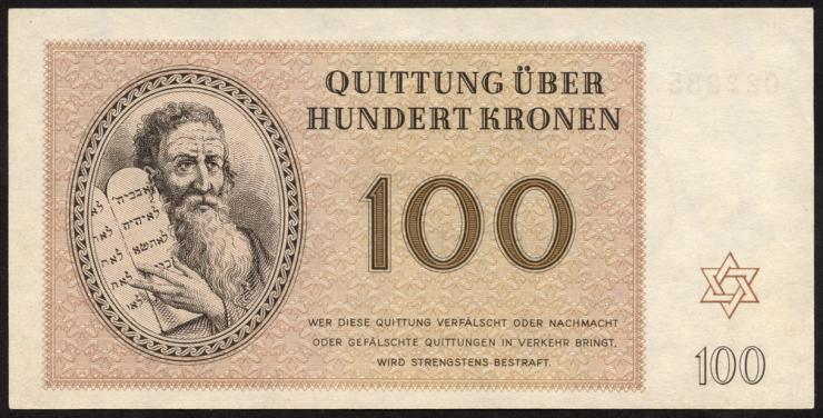 Get-14 Getto Theresienstadt 100 Kronen 1943 (1)