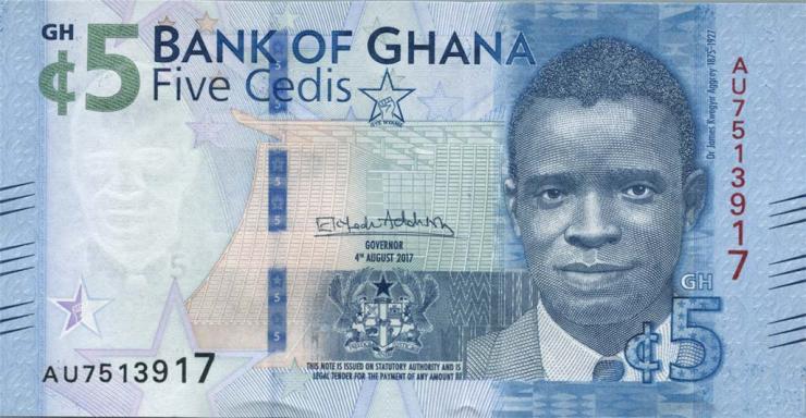 Ghana P.44 5 Cedis 2017 (1)