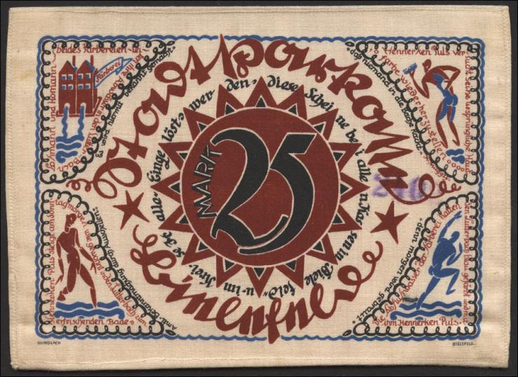 Bielefeld GP.17a 25 Mark 1921 Seide (1)