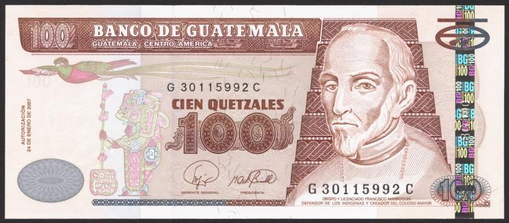 Guatemala P.114b 100 Quetzales 2007 (1)