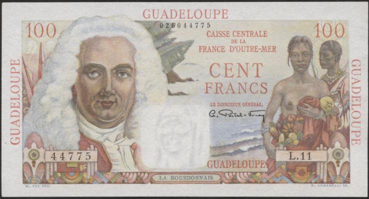 Guadeloupe, Frz. Verw. P.35 100 Francs (1947-49)