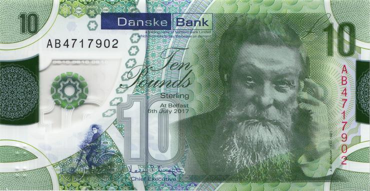 Nordirland / Northern Ireland, Danske Bank P.neu 10 Pounds 2017 (2019) Polymer (1)