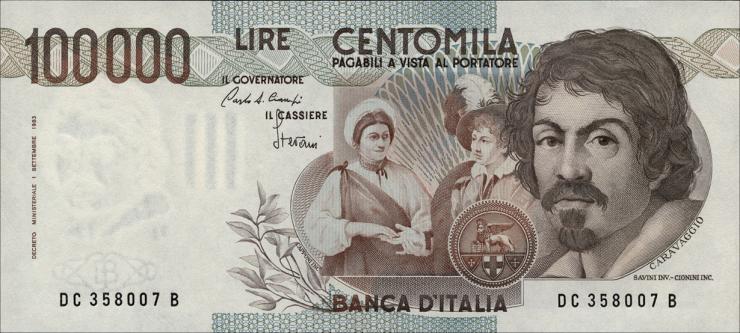 Italien / Italy P.110a 100.000 Lire 1983 (1)