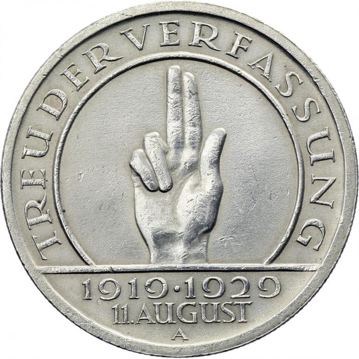 J.341 • 5 Reichsmark Schwurhand 1929 A
