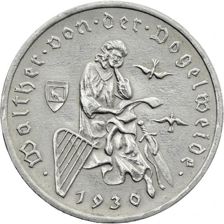 J.344 • 3 Reichsmark Vogelweide 1930 F