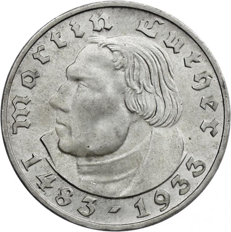 J.352 • 2 Reichsmark Luther 1933 F